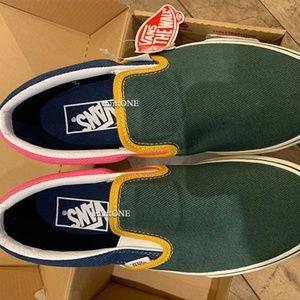 NIB vans multi-color slipon sneaker size 7
